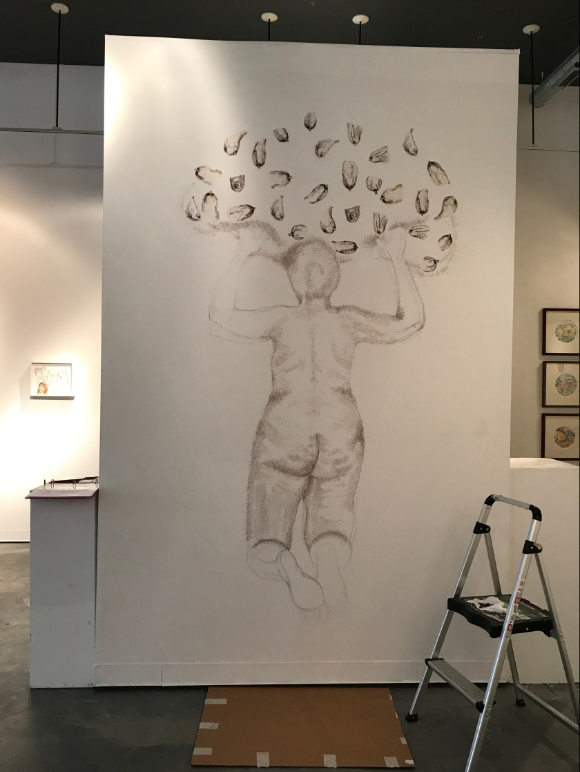 Wall Drawing Installation in Progress